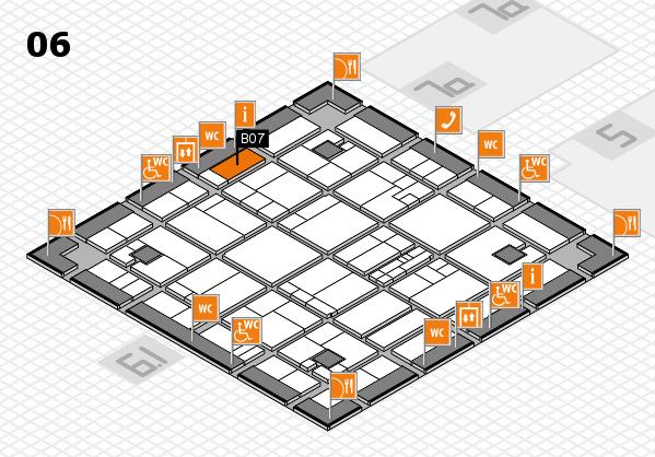 K 2016 hall map (Hall 6): stand B07