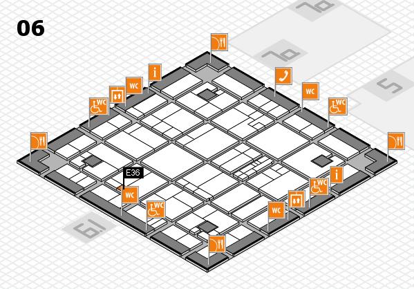 K 2016 hall map (Hall 6): stand E36