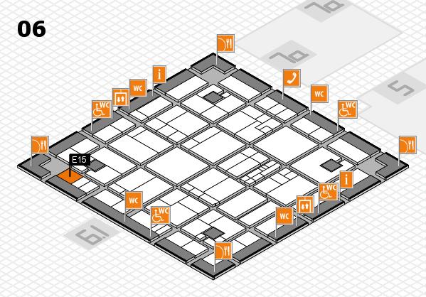 K 2016 hall map (Hall 6): stand E15