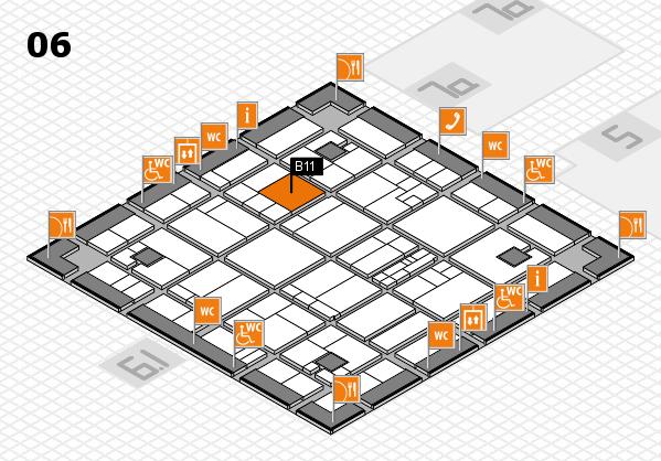 K 2016 hall map (Hall 6): stand B11