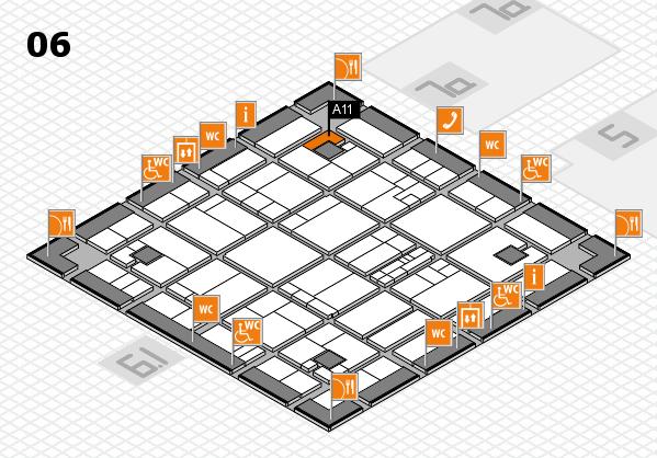 K 2016 hall map (Hall 6): stand A11