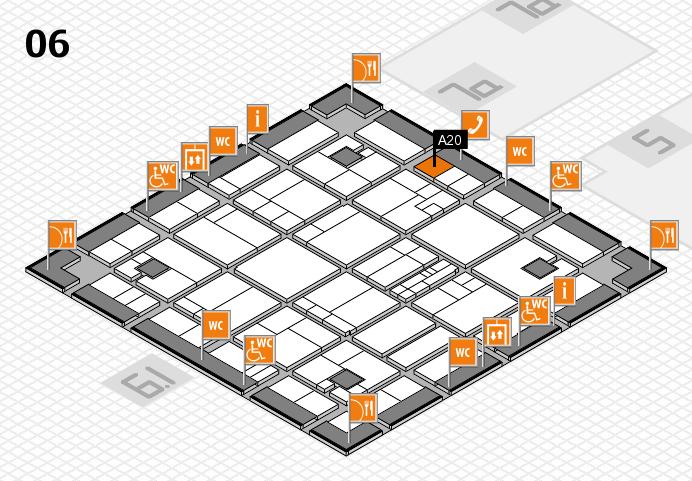 K 2016 hall map (Hall 6): stand A20