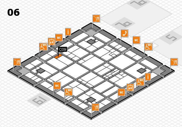 K 2016 hall map (Hall 6): stand C09