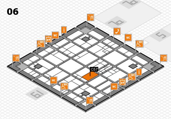 K 2016 hall map (Hall 6): stand C57