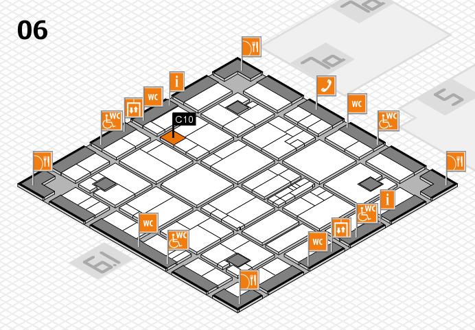 K 2016 hall map (Hall 6): stand C10