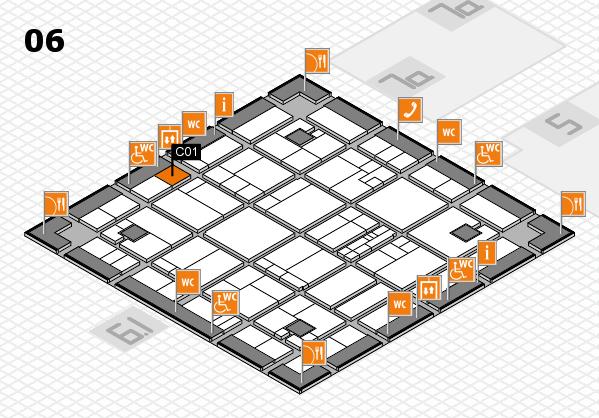 K 2016 hall map (Hall 6): stand C01