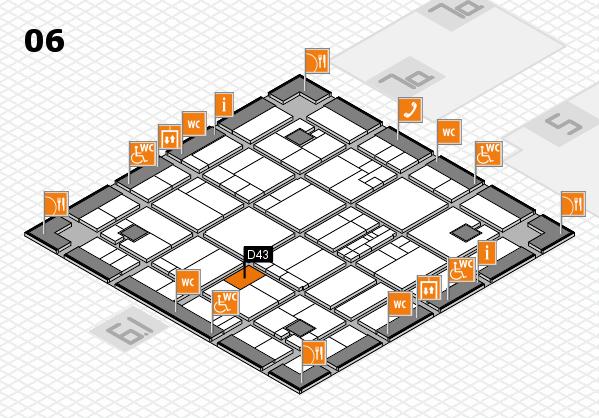 K 2016 hall map (Hall 6): stand D43