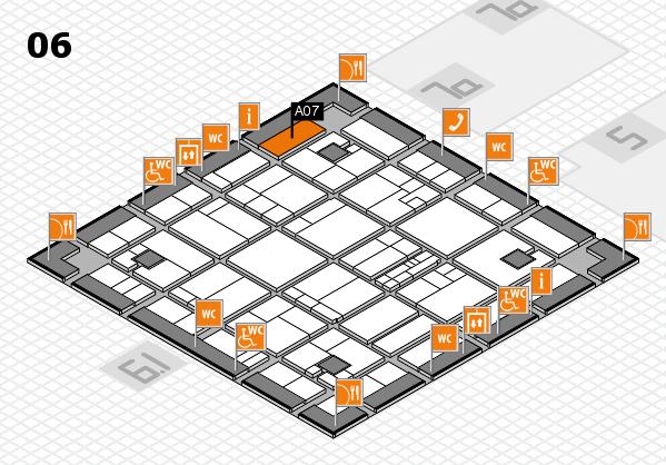 K 2016 hall map (Hall 6): stand A07