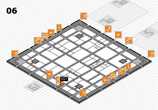 K 2016 hall map (Hall 6): stand E57