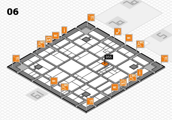 K 2016 hall map (Hall 6): stand B55