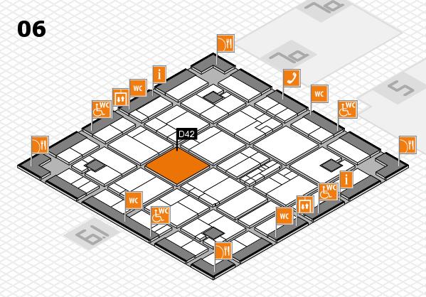 K 2016 hall map (Hall 6): stand D42