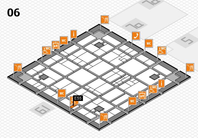 K 2016 hall map (Hall 6): stand E55