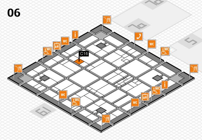 K 2016 hall map (Hall 6): stand C16