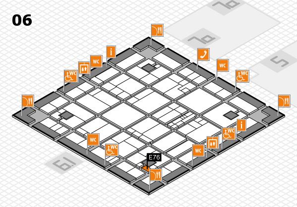 K 2016 hall map (Hall 6): stand E76
