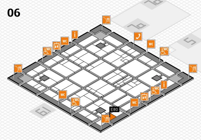 K 2016 hall map (Hall 6): stand E80