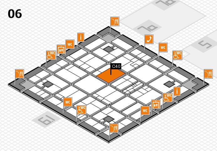 K 2016 hall map (Hall 6): stand C40