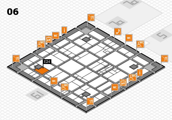 K 2016 hall map (Hall 6): stand E24