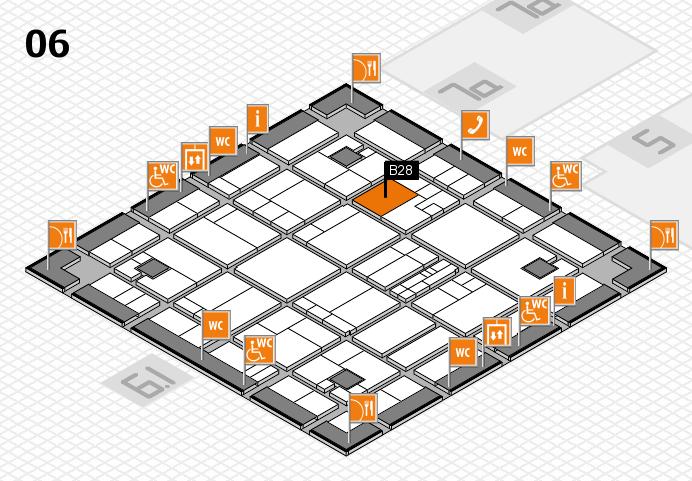 K 2016 hall map (Hall 6): stand B28