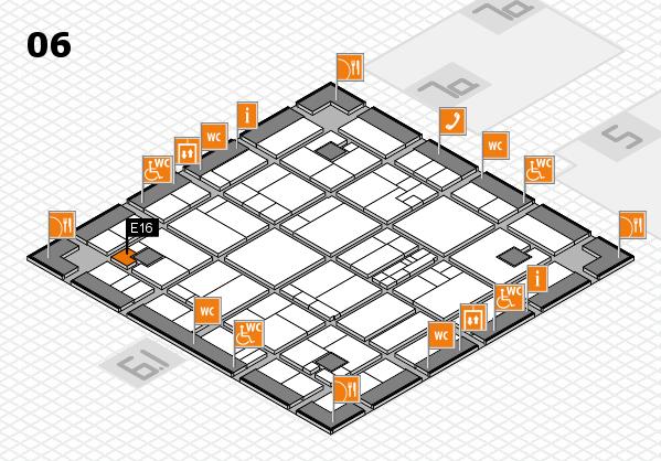 K 2016 hall map (Hall 6): stand E16