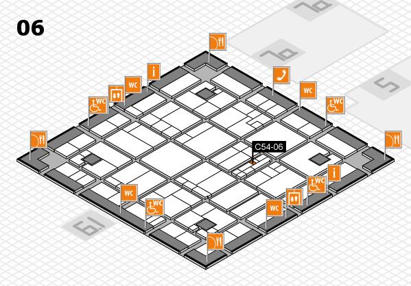 K 2016 hall map (Hall 6): stand C54-06