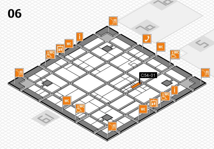 K 2016 hall map (Hall 6): stand C54-01