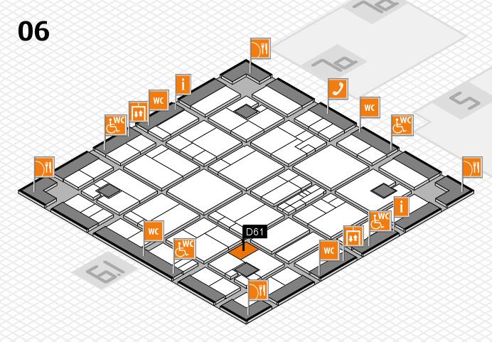 K 2016 hall map (Hall 6): stand D61