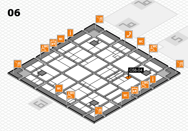 K 2016 hall map (Hall 6): stand C58-04