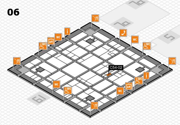 K 2016 hall map (Hall 6): stand C54-02