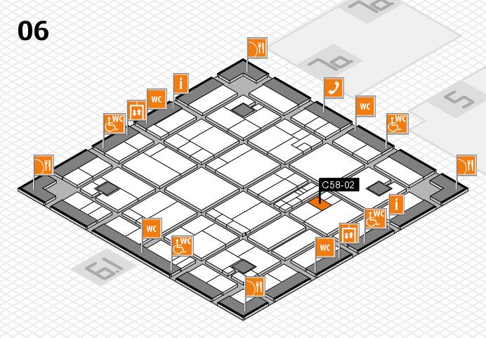 K 2016 hall map (Hall 6): stand C58-02