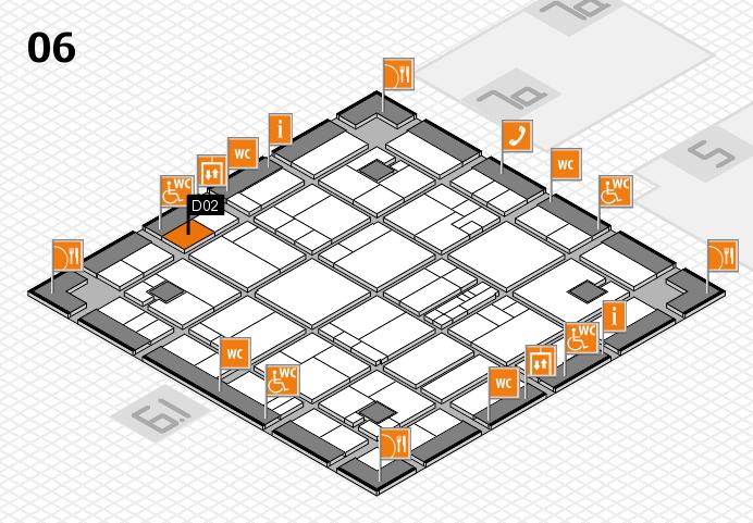 K 2016 hall map (Hall 6): stand D02