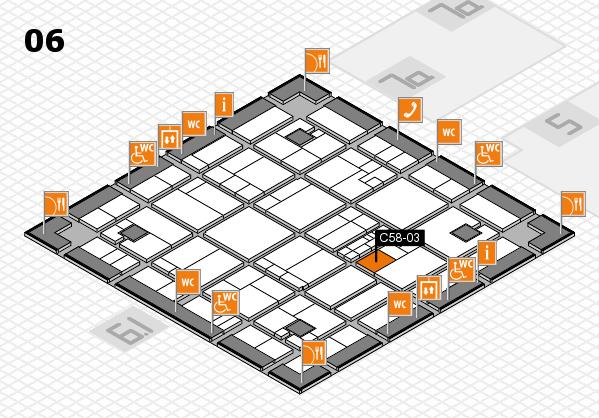 K 2016 hall map (Hall 6): stand C58-03