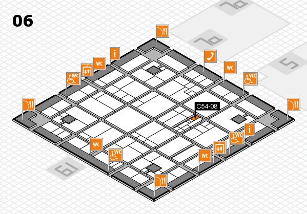 K 2016 hall map (Hall 6): stand C54-08