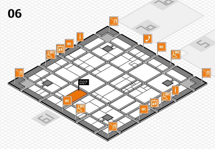 K 2016 hall map (Hall 6): stand D27
