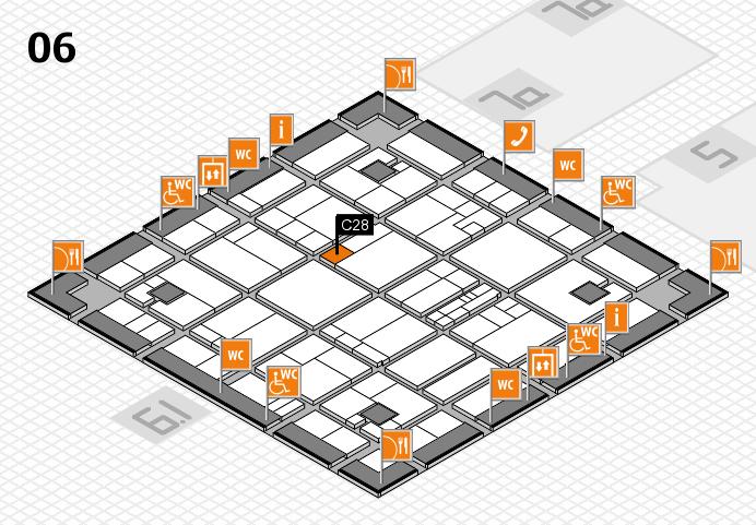 K 2016 hall map (Hall 6): stand C28