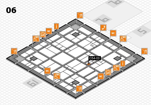 K 2016 hall map (Hall 6): stand C54-03