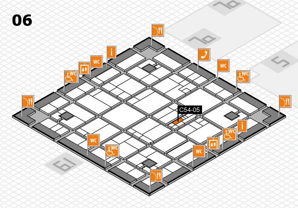 K 2016 hall map (Hall 6): stand C54-05