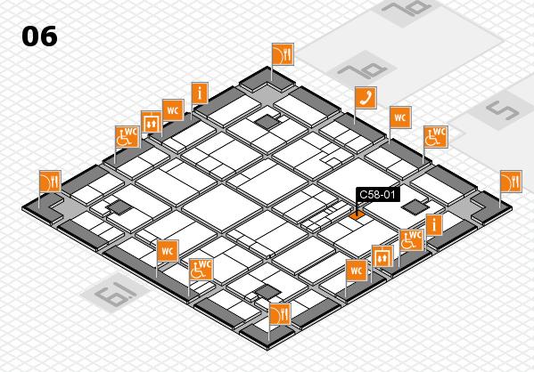 K 2016 hall map (Hall 6): stand C58-01