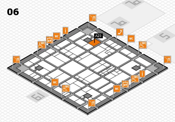 K 2016 hall map (Hall 6): stand A23