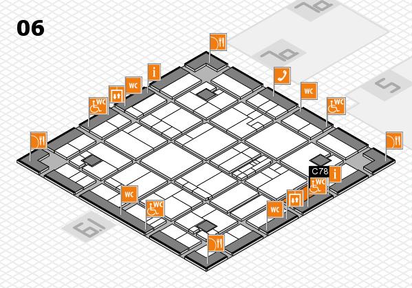 K 2016 hall map (Hall 6): stand C78