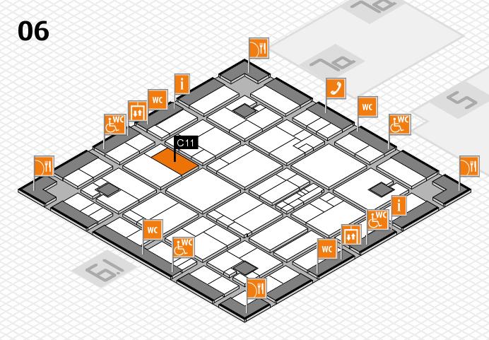 K 2016 hall map (Hall 6): stand C11
