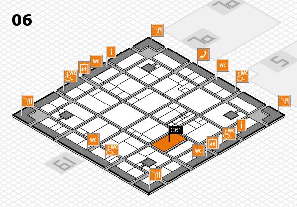 K 2016 hall map (Hall 6): stand C61