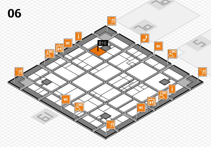K 2016 hall map (Hall 6): stand B10