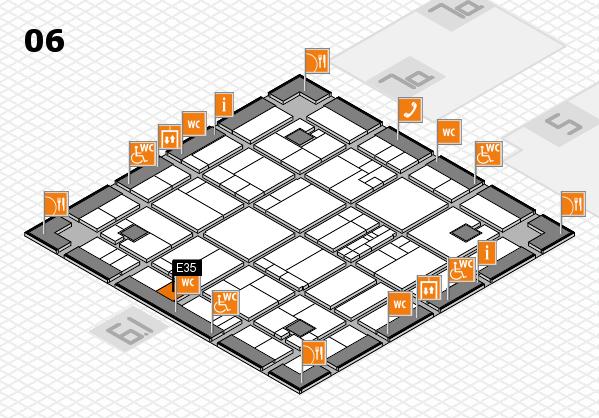 K 2016 hall map (Hall 6): stand E35
