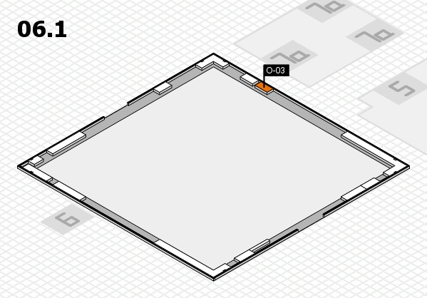K 2016 hall map (Hall 6, gallery): stand O-03