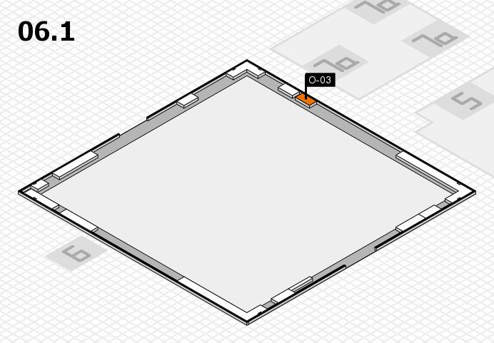 K 2016 hall map (Hall 6, gallery): stand O-03