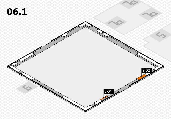 K 2016 Hallenplan (Halle 6, Galerie): Stand S-01, Stand S-02