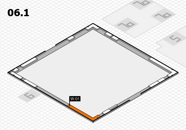 K 2016 Hallenplan (Halle 6, Galerie): Stand W-01