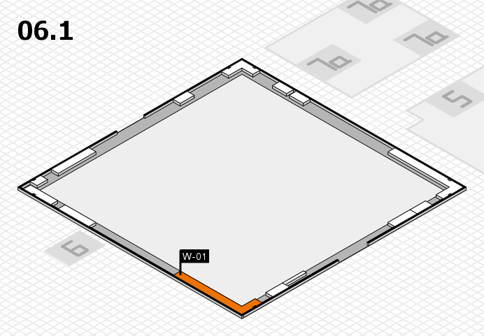 K 2016 hall map (Hall 6, gallery): stand W-01