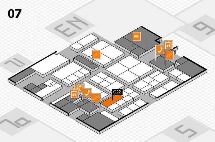 K 2016 hall map (Hall 7): stand C22