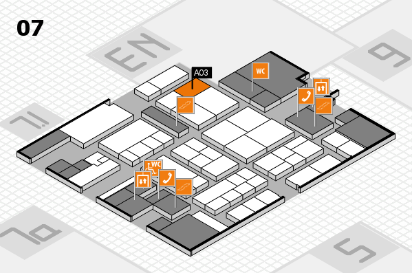 K 2016 hall map (Hall 7): stand A03